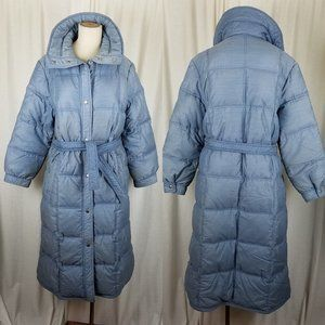 White Stag Goose Down Long Puffer Parka Maxi Coat